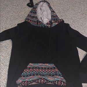 multi colored hoodie small zumiez